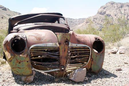 junk: Classic car at the junkyard