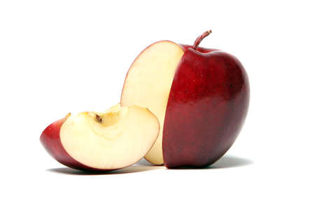 Slice of red delicious apple Stock Photo