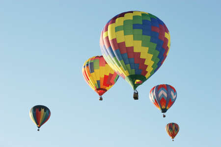 Hot air balloons at the festival photo