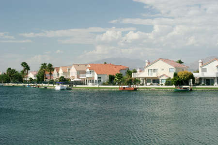 Luxury waterfront homes neighborhood Stock Photo - 1704372