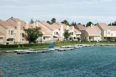 Luxury waterfront homes neighborhood Stock Photo - 1704461