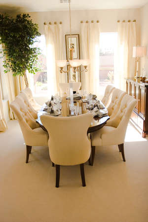 Modern tastefully decorated dining room Stock Photo - 1704236