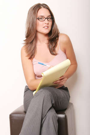 Pretty businesswoman at work photo