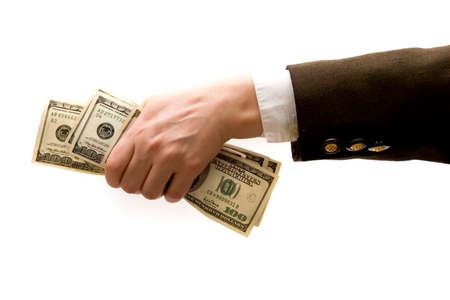 dollar bills: Tenuta del businesswoman cento fatture del dollaro