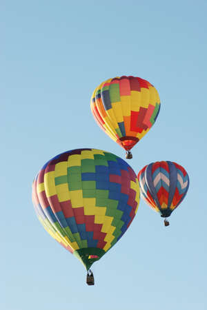 Hot air balloons at the festival Stock Photo