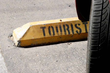 spot: Tourist parking spot Stock Photo