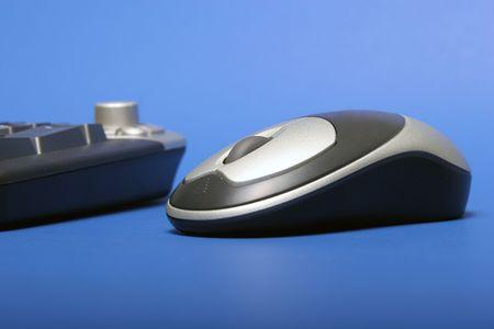 ワイヤレス マウスとキーボード 写真素材