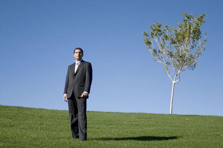 Businessman in dark suit Stock Photo - 2065166