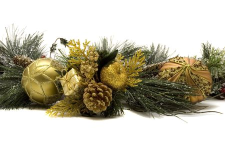 Colorful decorative Christmas ornaments for holidays photo