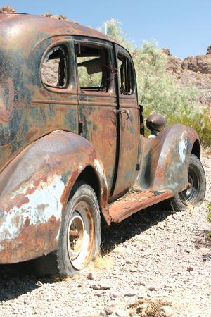 rusty car: Rusty old classic American car Stock Photo