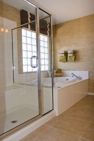 modern bathroom: Modern bathroom in a house