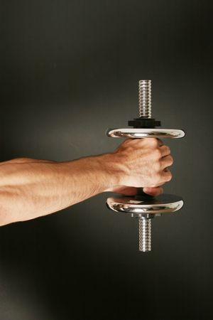 Man working out with a dumbbell Stock Photo - 2077805