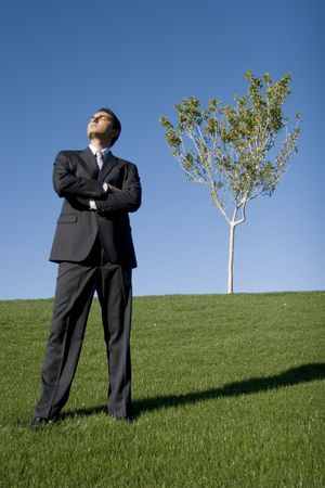 Businessman in dark suit Stock Photo - 2074689