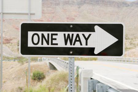 Une circulation à sens unique signe Banque d'images - 2077820