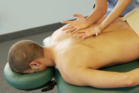 Man getting a back massage Stock Photo - 2084565