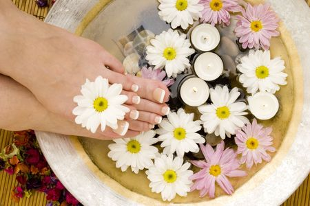 revitalize: Daisies, candles and pedicured feet