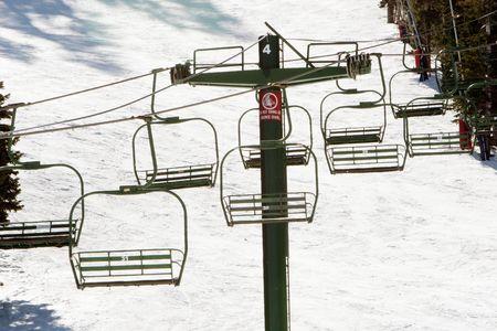 Ski lifts at a ski resort Stock fotó