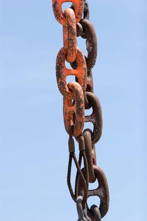 Chain op een vissersboot