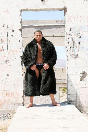 Manteau en fourrure homme