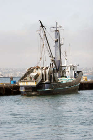 safe water: Fishing boat ducked at the marina