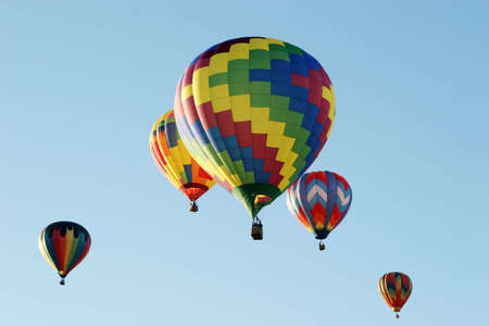 Colorful ballons � air chaud Banque d'images