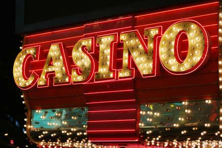 machines: Neon lights casino sign
