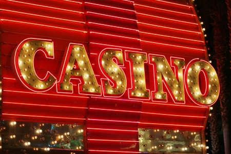 Neon lights casino sign photo