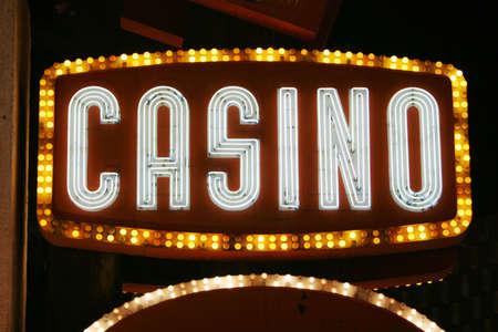 Neon lights casino sign