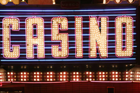 Neon lights casino sign photo