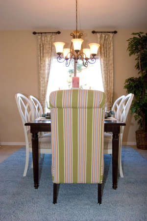 Modern tastefully decorated dining room Stock Photo - 2201348