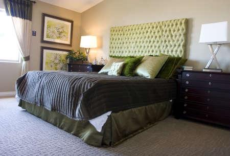Modern tastefully decorated master bedroom Stock Photo - 2201182