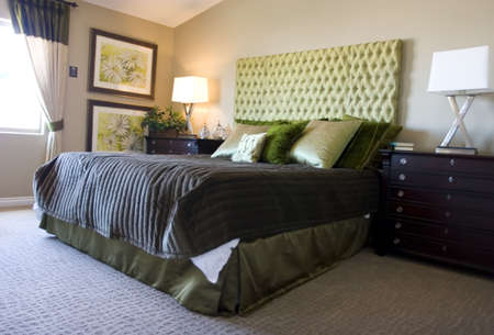luxury bedroom: Modern tastefully decorated master bedroom