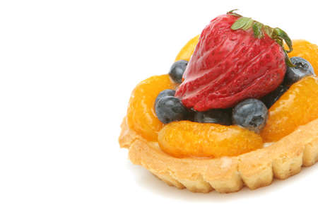 Delicious fruit tart decorated with berries Stock Photo - 2200867