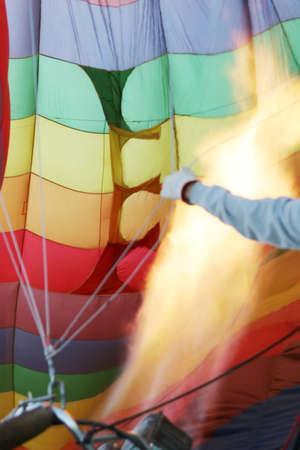 Inside of a hot air balloon Stok Fotoğraf