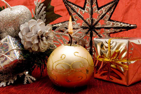 Colorful decorative Christmas ornaments for holidays Stock Photo - 2201678
