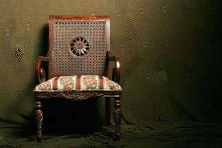 upholster: Antique chair in need of upholstery