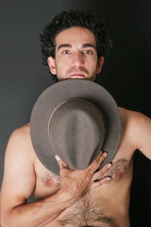 Attractive man with hat photo