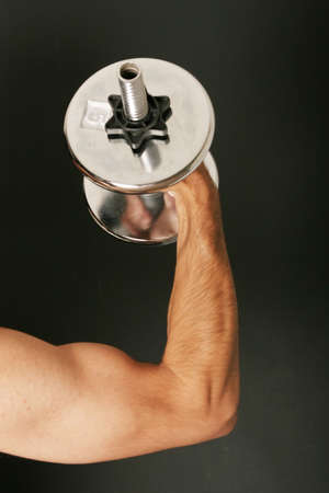 Man working out with dumbbell Stock Photo - 2283606