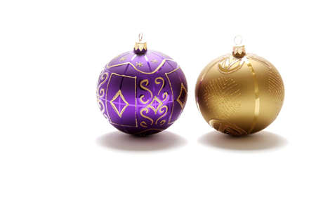 Christmas ornaments and decoration on white background Stock Photo