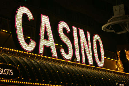Neon light casino sign photo