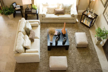 living room sofa: Modern tastefully decorated living room