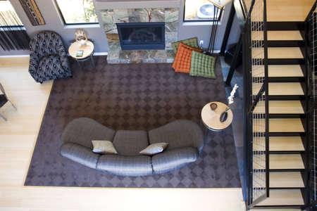 Modern tastefully decorated living room photo