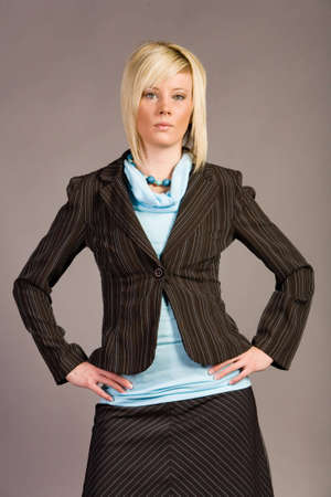 Young businesswoman in suit Stock Photo - 2291988