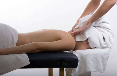Massage therapist giving a massage Stock Photo - 2291888