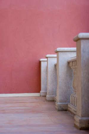 Columns of a balcony Stok Fotoğraf