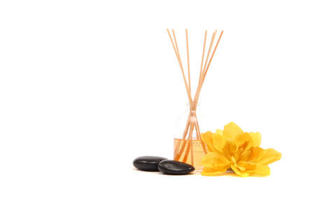 Spa items on white background Imagens