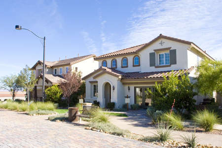 realty residence: Stucco southwest houses