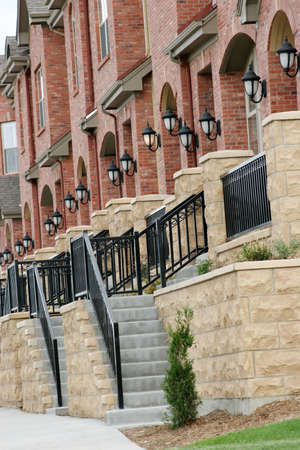 townhome: Row of upscale townhomes