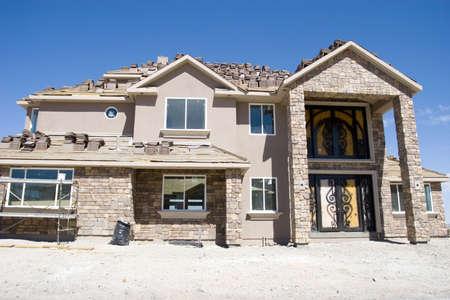 Beautiful custom made luxury home under construction Stock Photo - 2336730