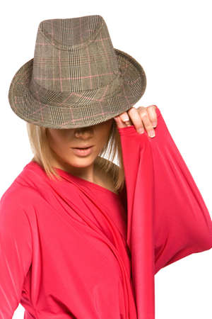 Pretty blond woman in hat Stock Photo - 2336774